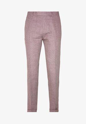 TROUSER SLIM - Oblekové kalhoty - pink