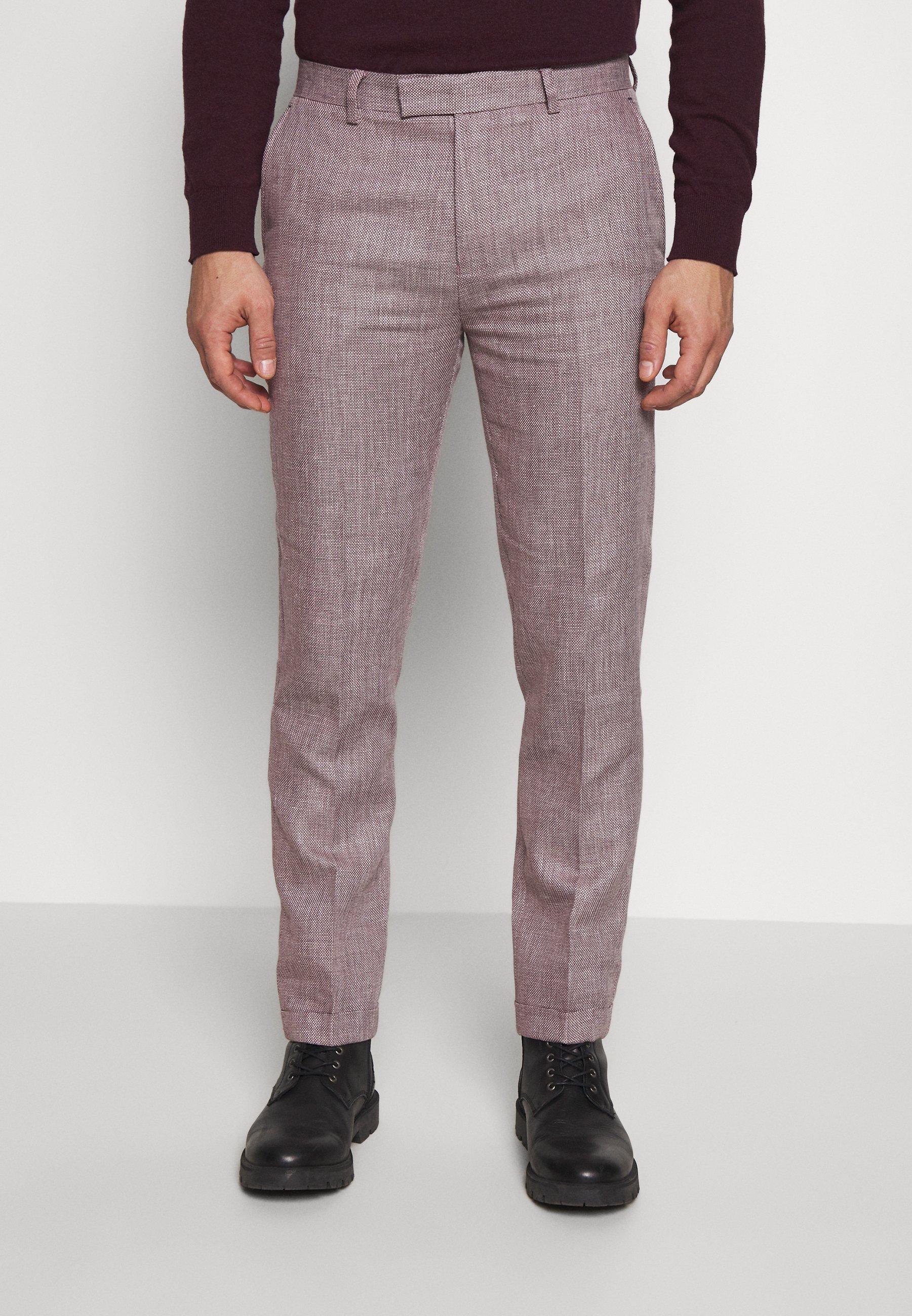 1904 TROUSER SLIM - Spodnie garniturowe - pink