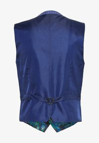 1904 - BLY JASPE OVER CHECK COAT SLIM FIT - Gilet elegante - mid blue - 1