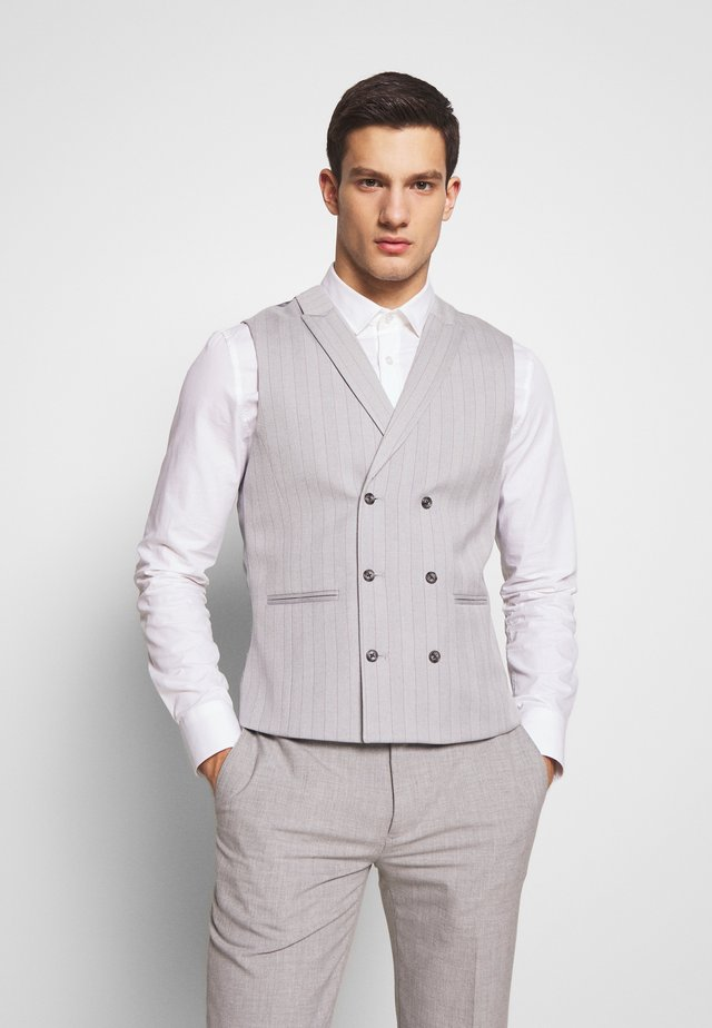 POLO BONE STRIPE COAT SKINNY - Gilet elegante - light grey
