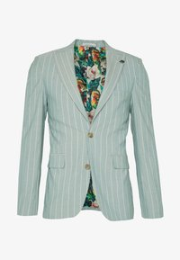 1904 - MOORE PIN STRIPE JACKET SKINNY - Suit jacket - green - 0