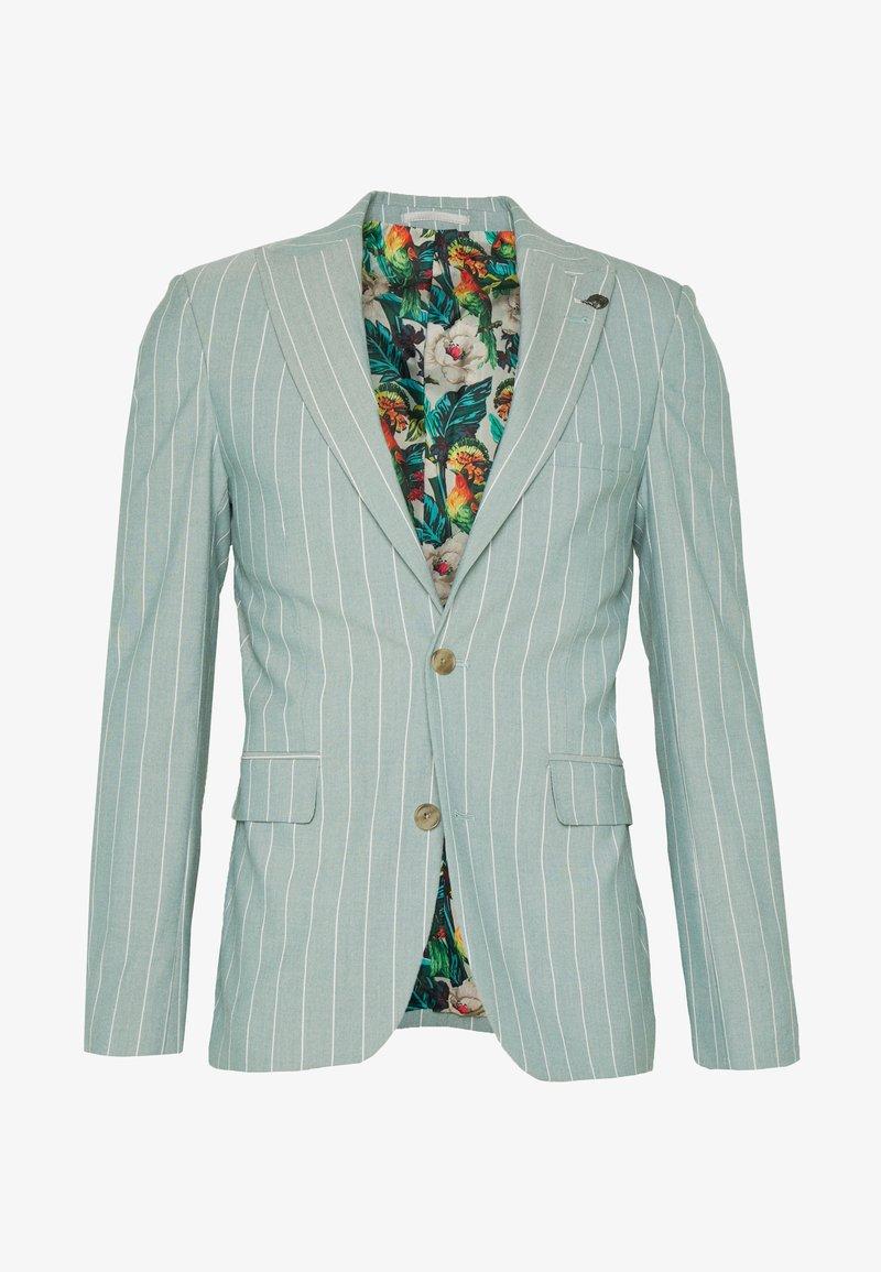 1904 - MOORE PIN STRIPE JACKET SKINNY - Suit jacket - green