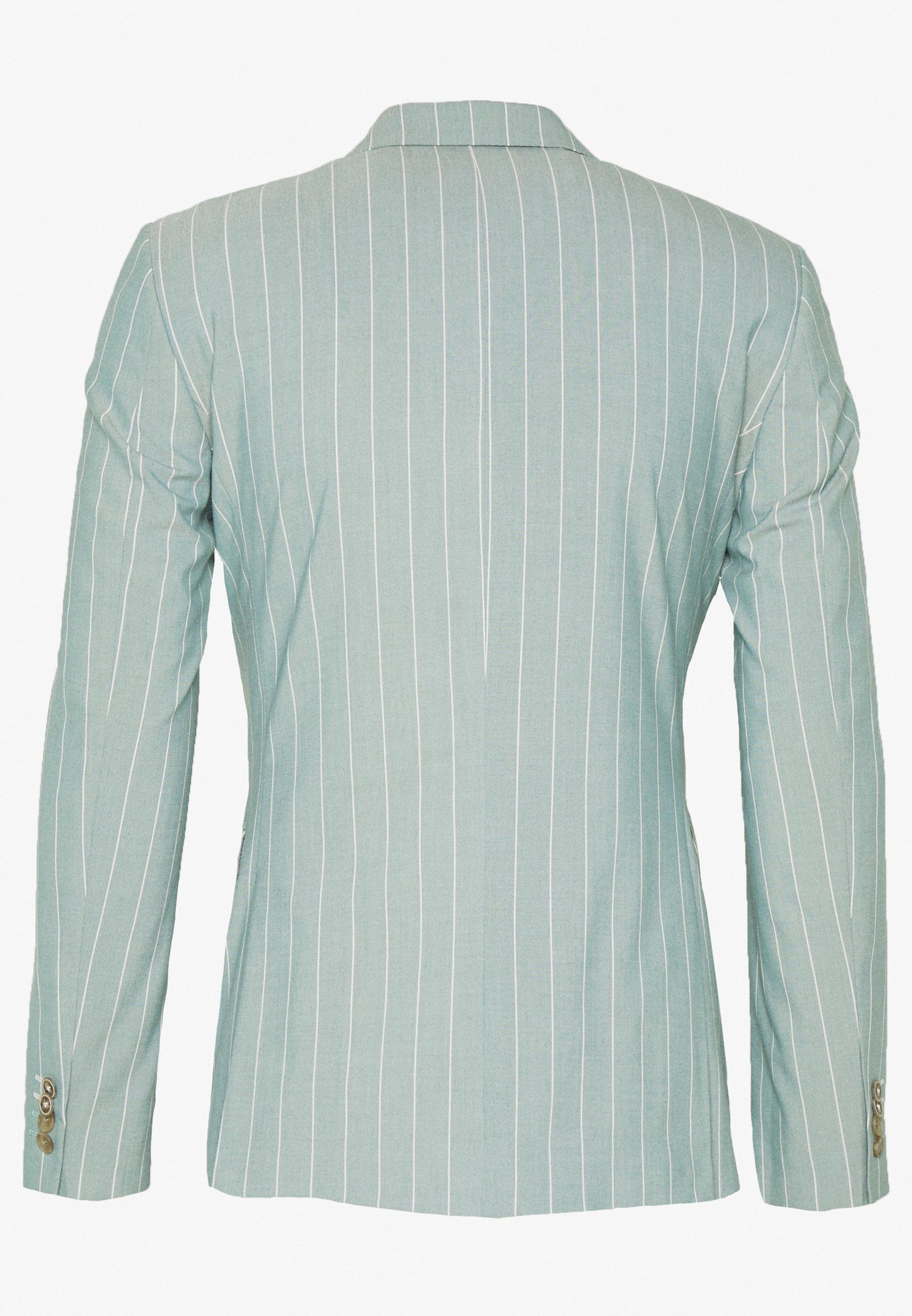 1904 Moore Pin Stripe Jacket Skinny - Giacca Elegante Green fdBAwF5