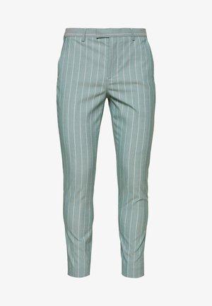 MOORE PIN STRIPE TROUSER SKINNY - Kalhoty - green