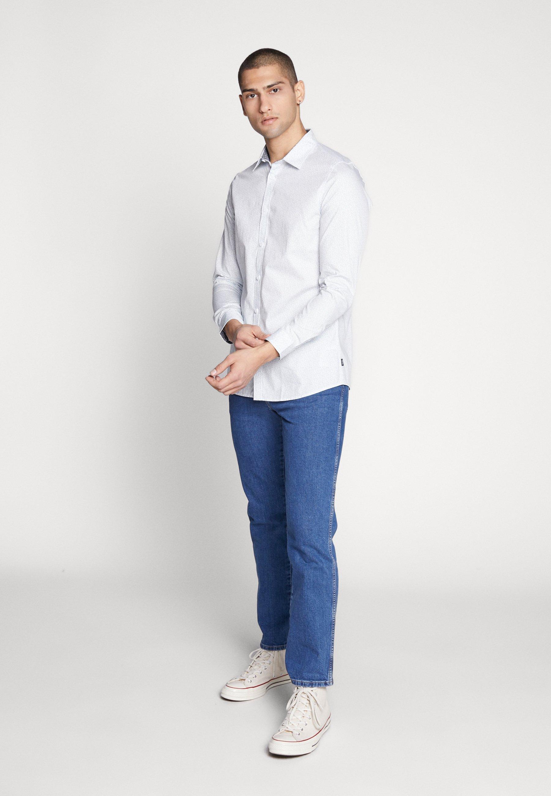 1904 BLACKBURN TONAL DITSY LEAF - Skjorta - mid blue