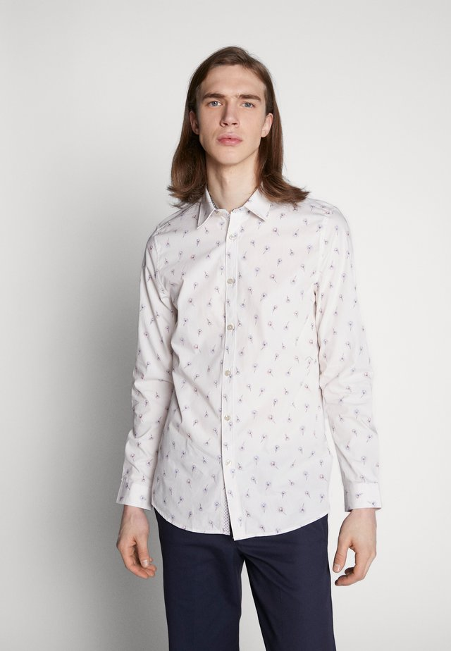 DISHNA PEACOCK FEATHER PRINT - Camicia - white