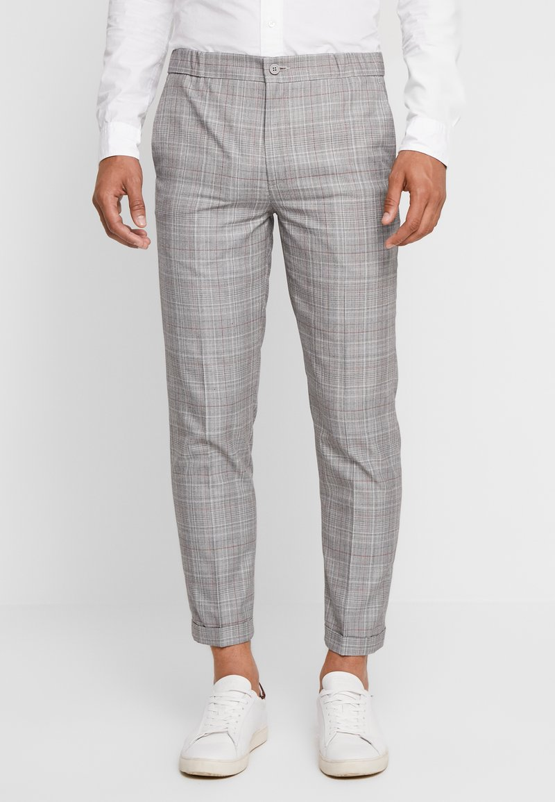 1904 - OVER CHECK TROUSER - Trousers - grey