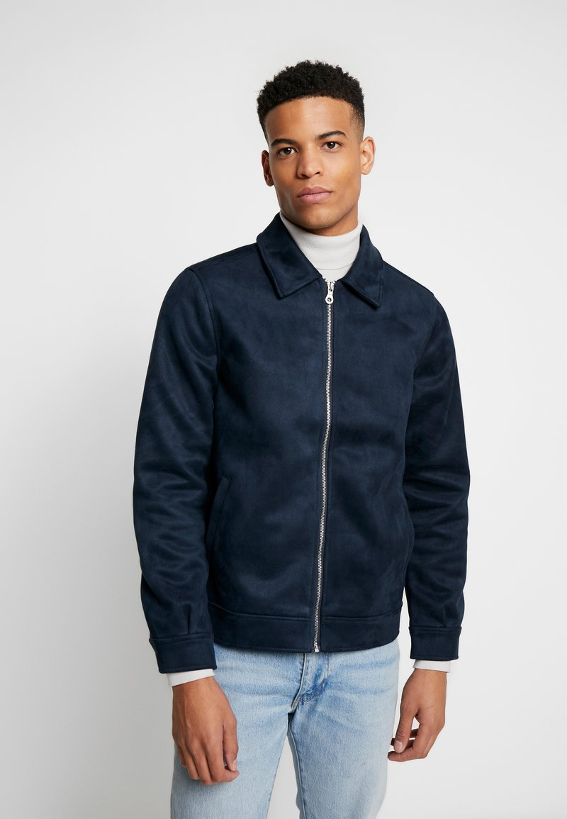 1904 - Faux leather jacket - navy