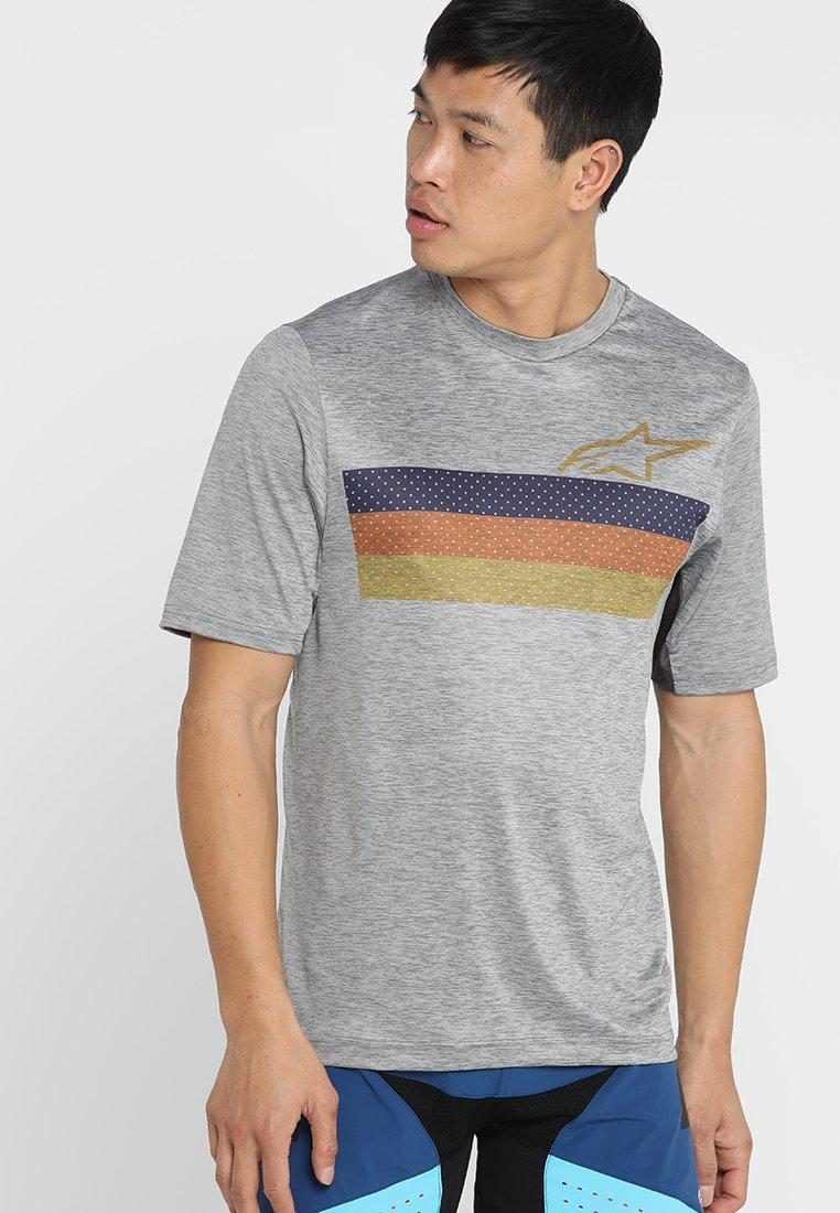 Alpinestars - ALPS - T-Shirt print - melange/light gray/blue/orange