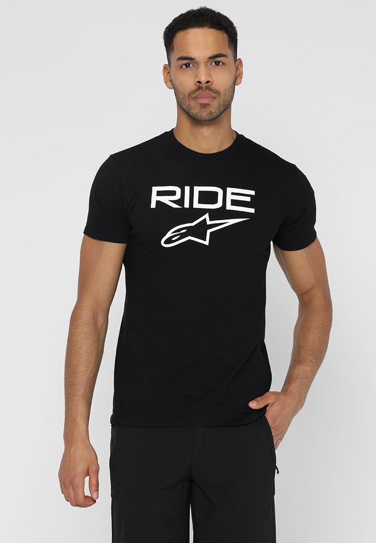 Alpinestars - RIDE TEE - T-Shirt print - black/white