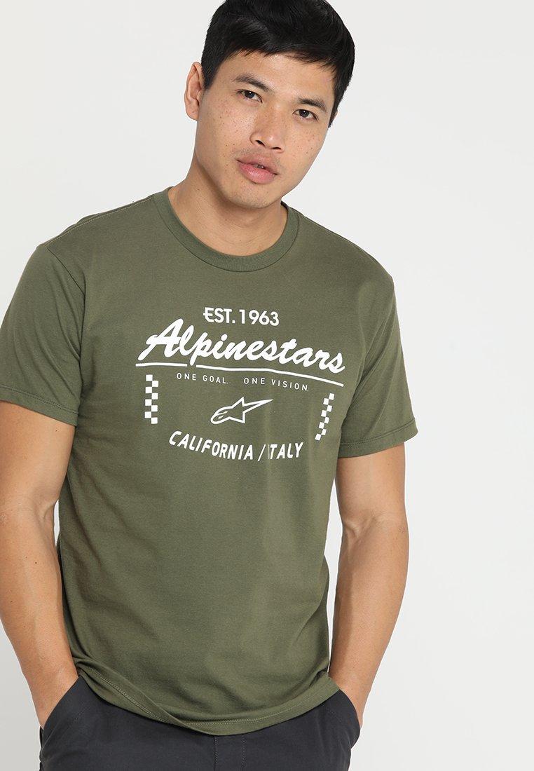 Alpinestars - PITH TEE - Print T-shirt - militarty green
