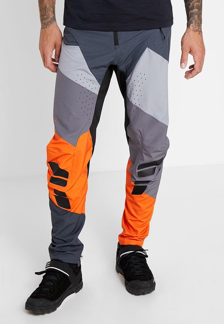 Alpinestars - TECHSTAR PANTS - Broek - anthracite/gray/bright orange
