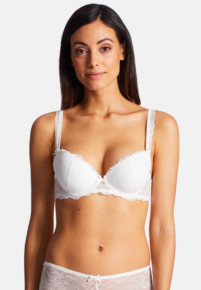 Push-up bra - beige/white