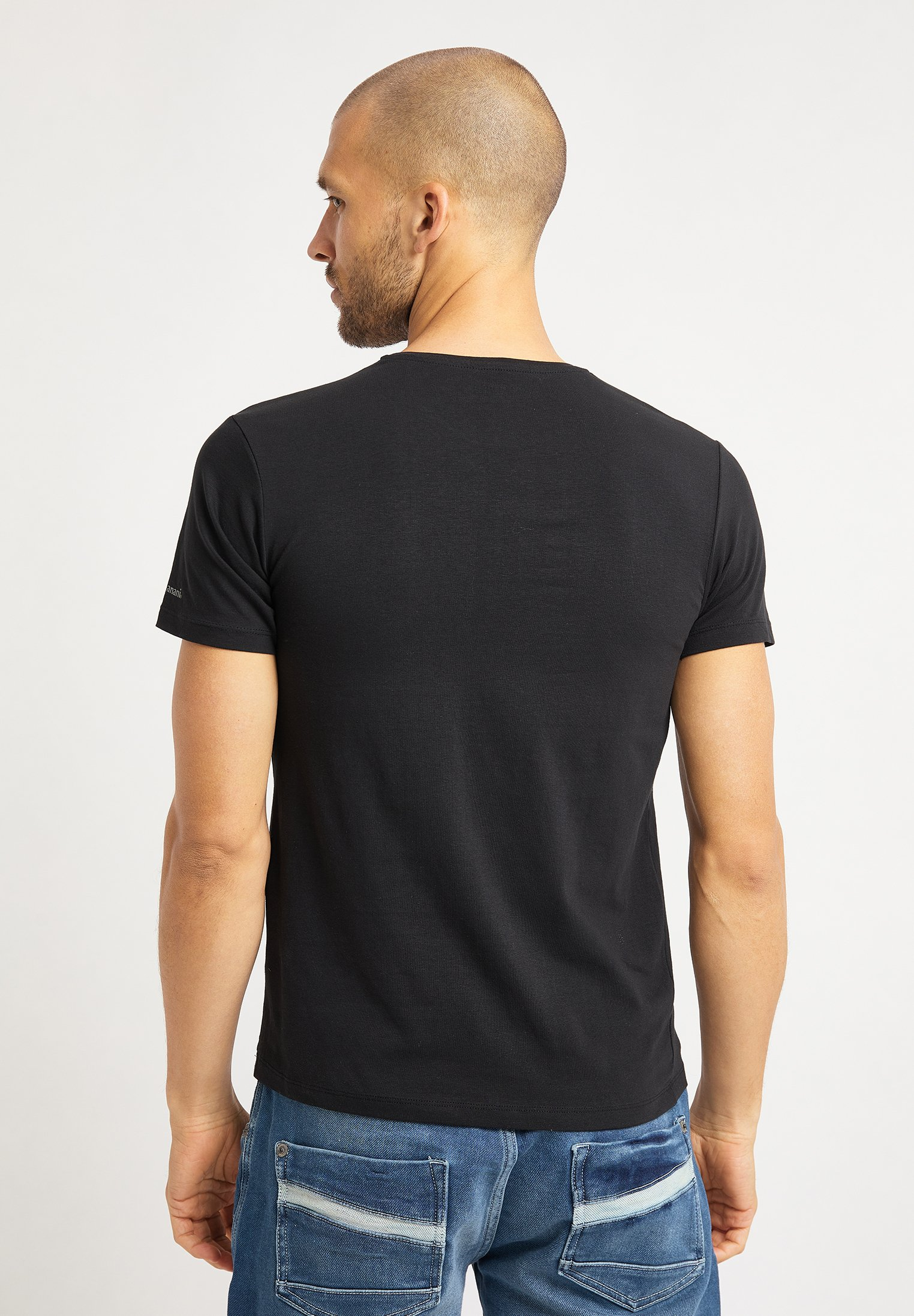 Bruno Banani T-shirt med print - schwarz - Herrkläder Rabatter