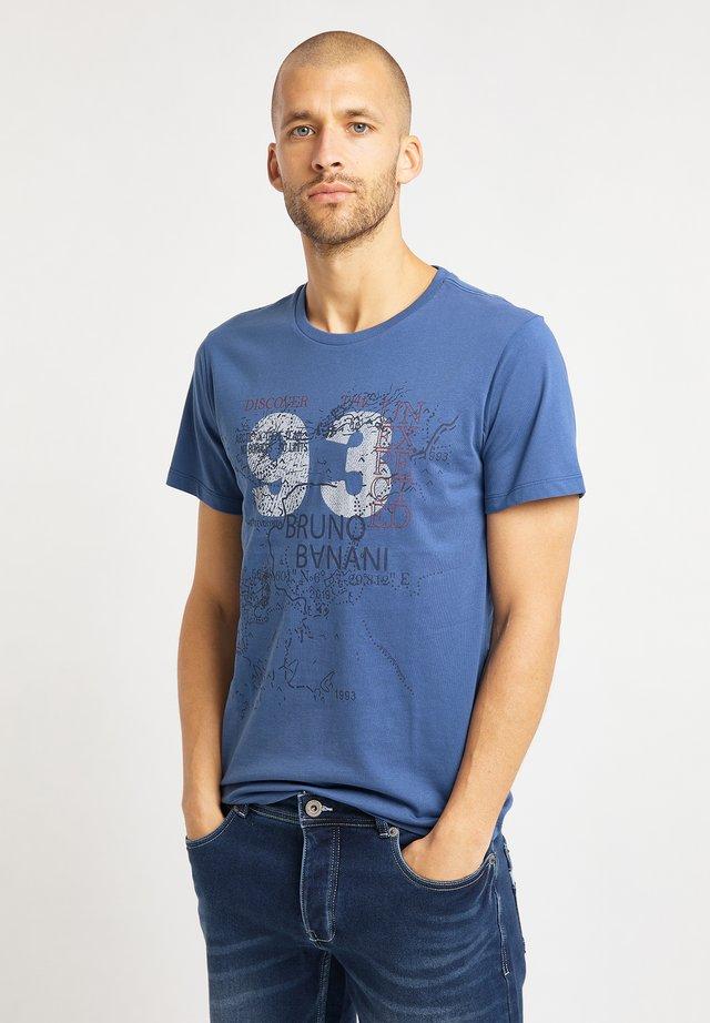 Printtipaita - jeansblau