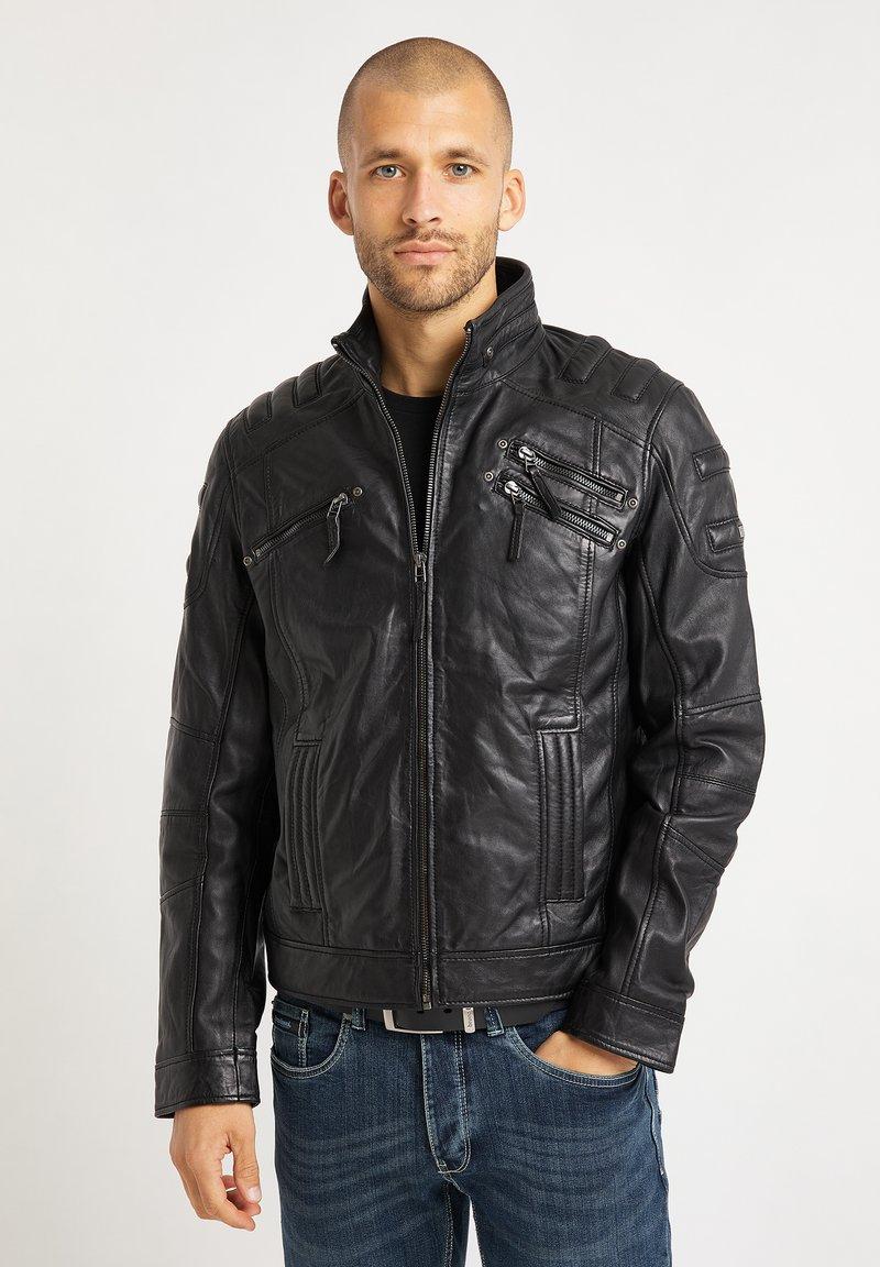 Bruno Banani - Leather jacket - schwarz