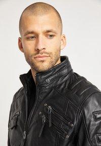 Bruno Banani - Leather jacket - schwarz - 3