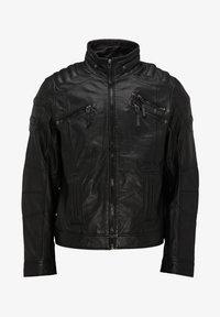 Bruno Banani - Leather jacket - schwarz - 4