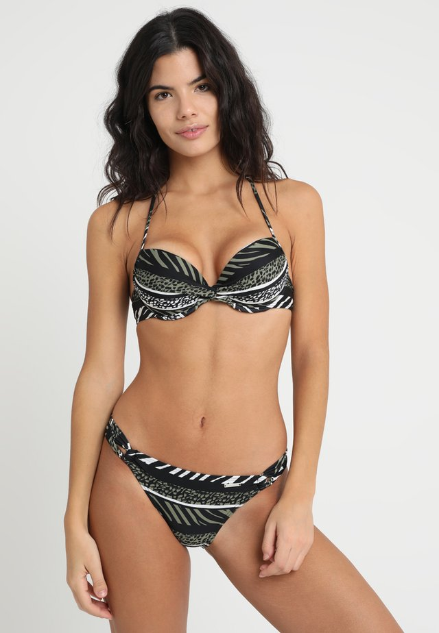 ANIMAL PUSH UP SET - Bikini - oliv