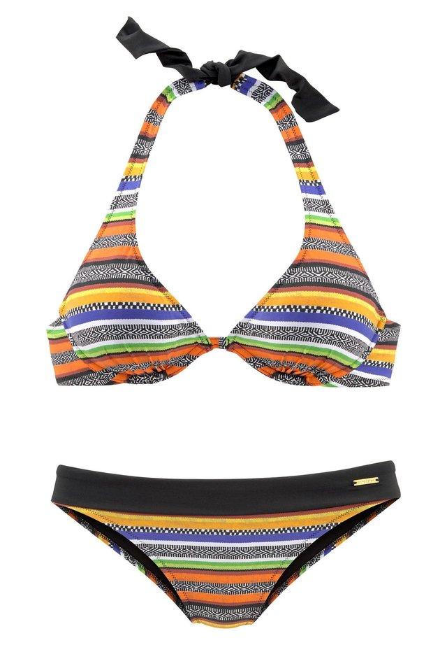 Bikini - schwarz-orange