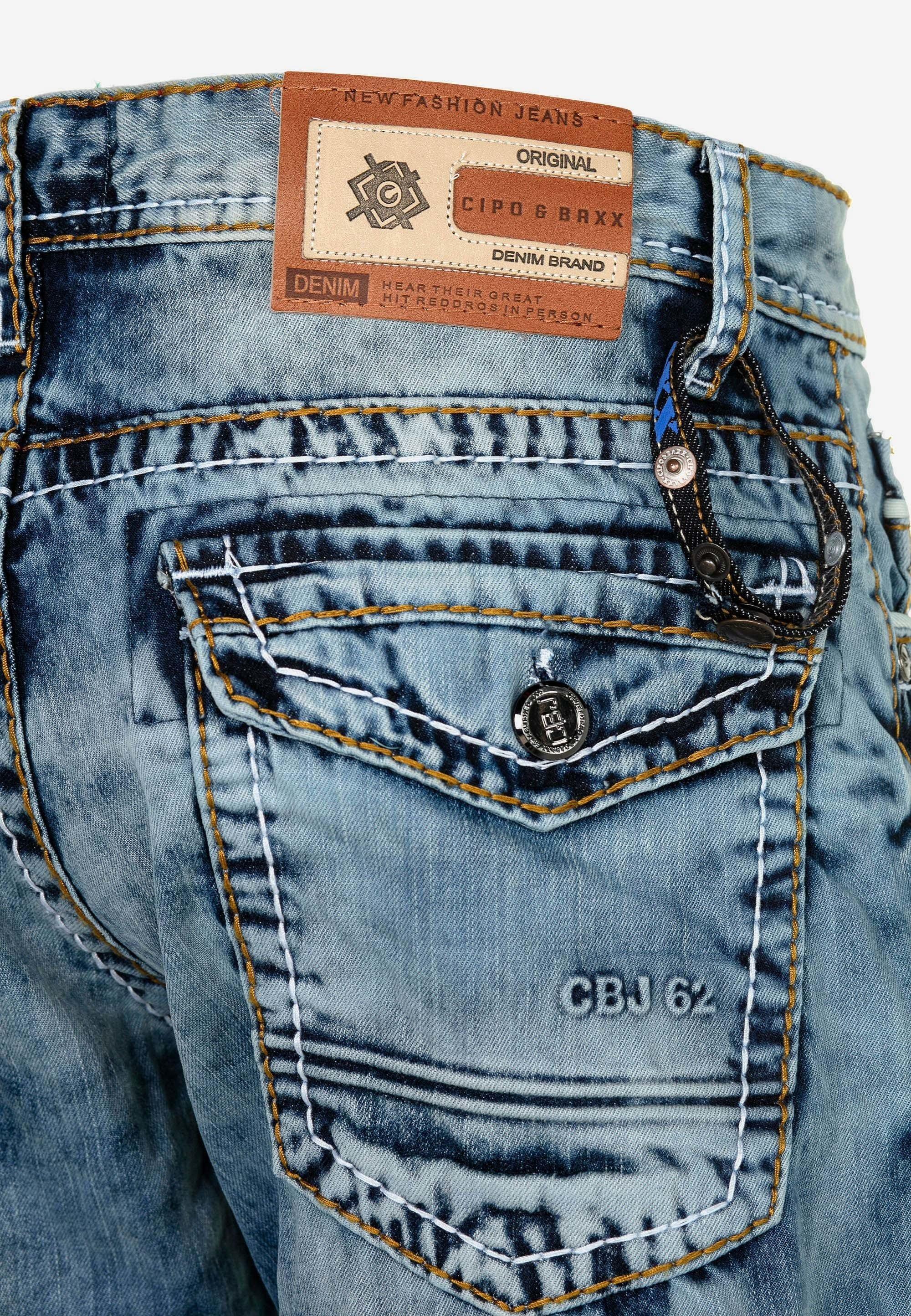 Cipo & Baxx Jeans Slim Fit - Ijsblauw Black Friday jzfuQLoF