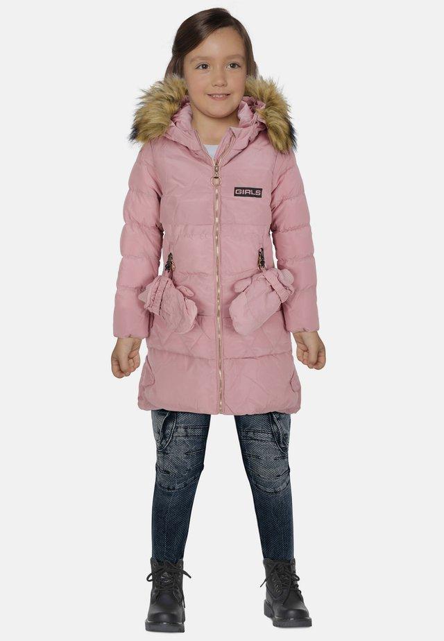 MIT HANDSCHUHEN - Winter coat - pink