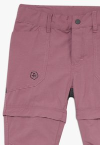 Color Kids - TIGGO ZIP OFF PANTS - Outdoor trousers - tulipwood - 3