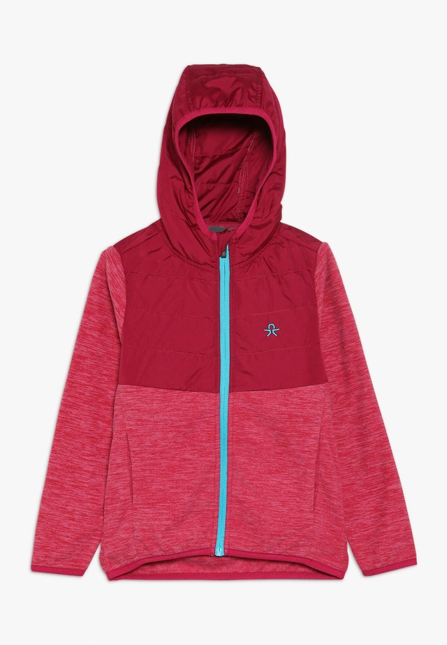 SHERMANN - Fleecová bunda - raspberry