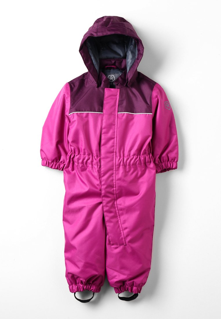 Color Kids - KOMBI MINI PADDED COVERALL - Schneehose - berry
