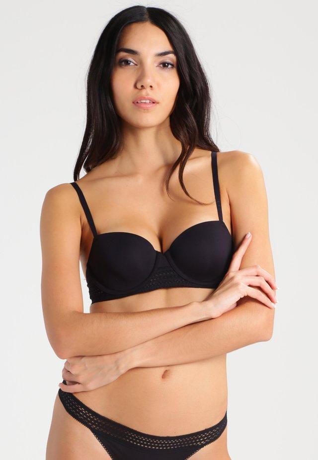 CLASSIC COTTON - Balconette bra - black