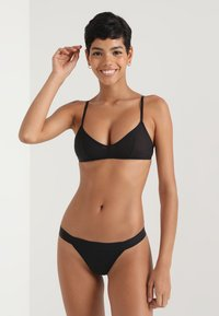 DKNY Intimates - CLASSIC TAILORED THONG - String - black - 1