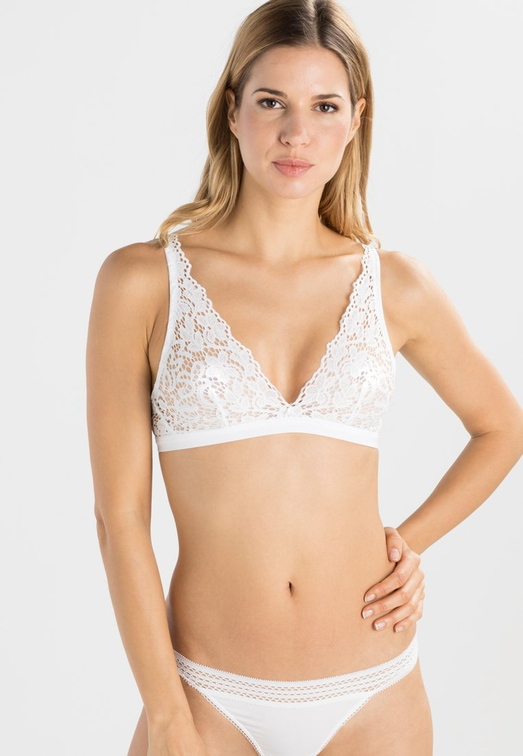 DKNY Intimates - Triangle bra - poplin whithe