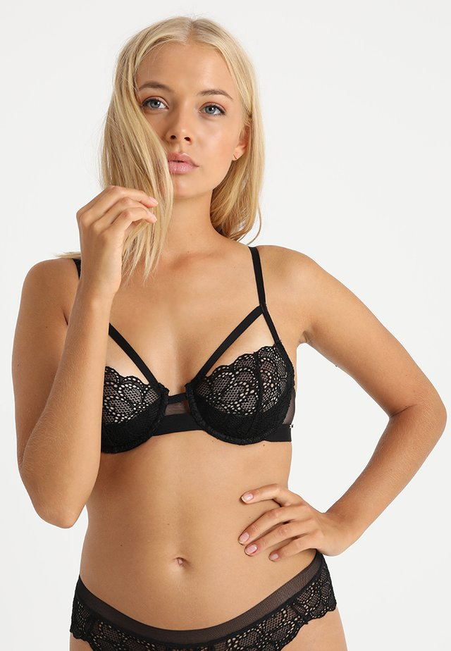 1/2 CUP DEMI BRA SUPERIOR - Underwired bra - black