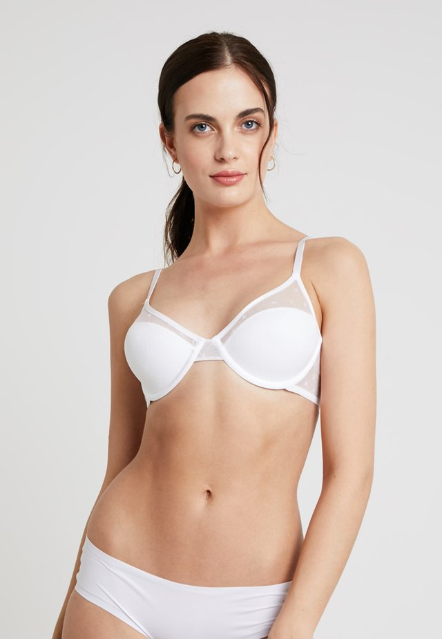 MONOGRAM BRA - Underwired bra - poplin white