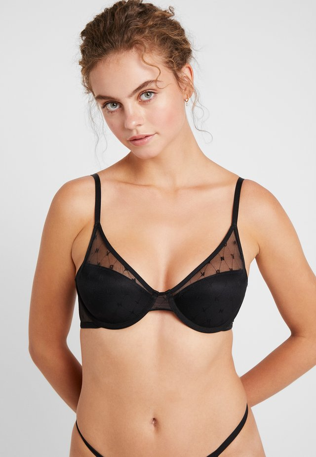 MONOGRAM BRA - Underwired bra - black