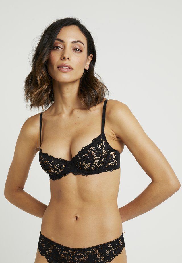 CLASSIC UNLINED DEMI BRA - Underwired bra - black