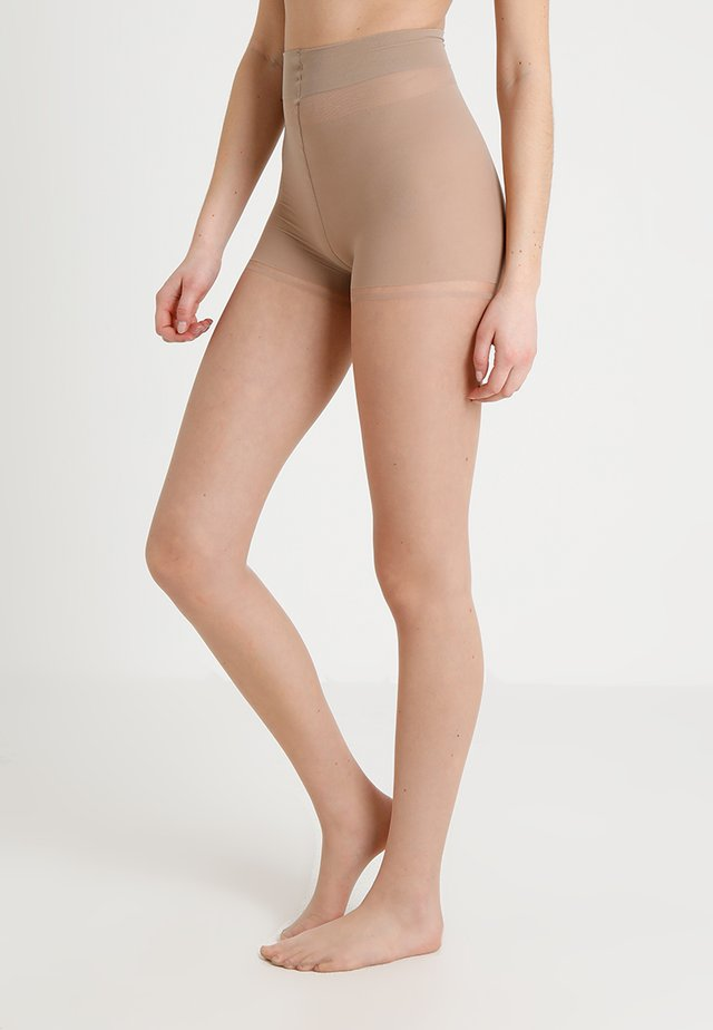 CONTROL TOP TIGHTS WITH LOGO DETAIL - Strømpebukser - nude