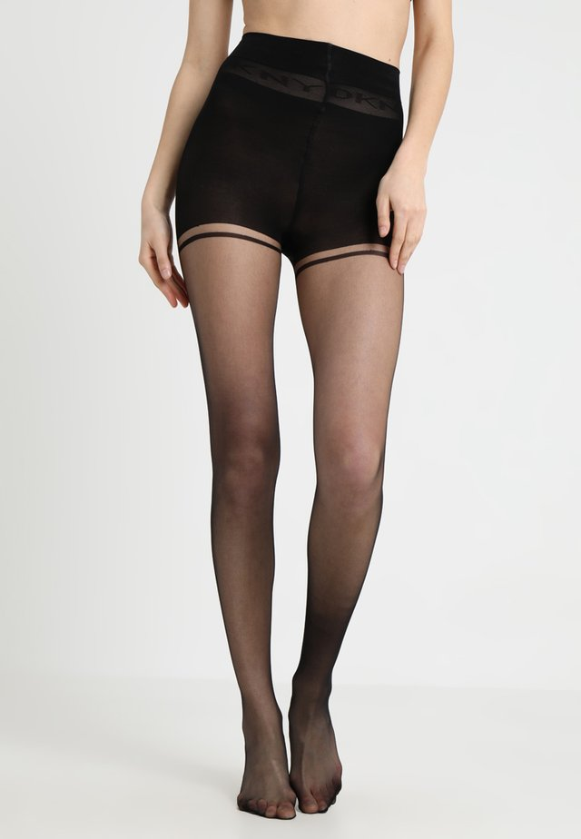 CONTROL TOP TIGHTS WITH LOGO DETAIL - Panty - black