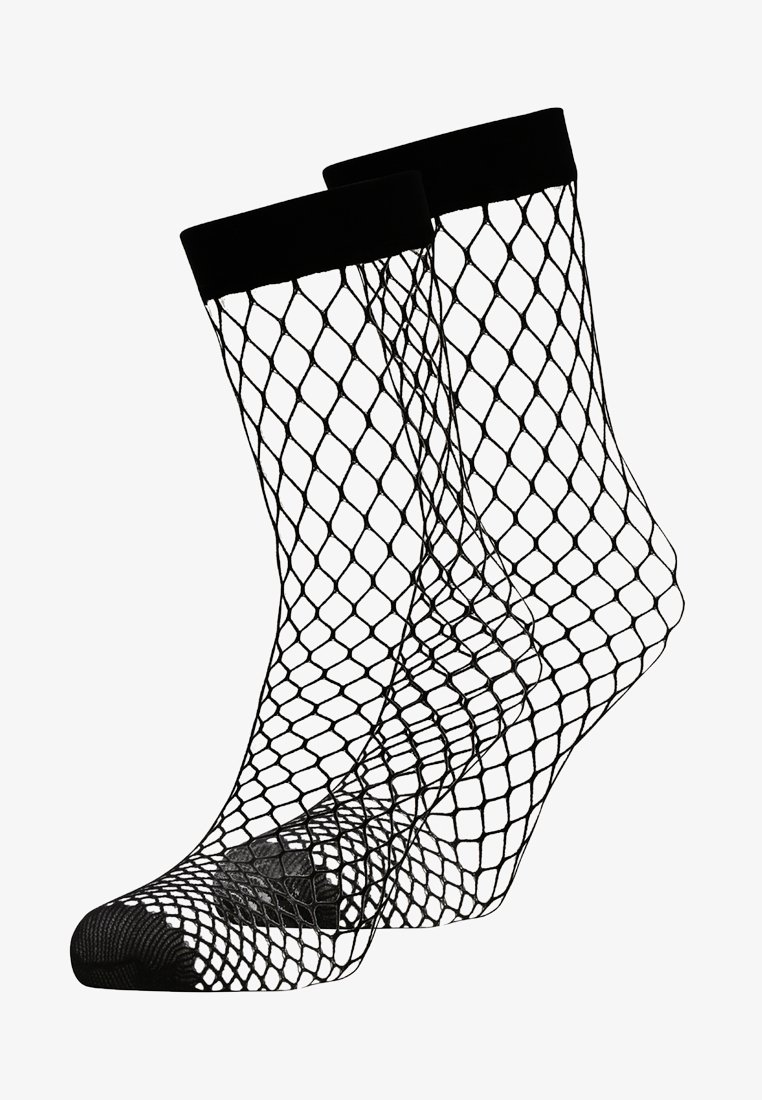 DKNY Intimates - LARGE FISHNET ANKLET 2 PACK - Calcetines - black