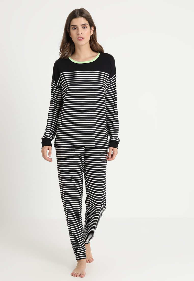 DKNY Intimates - SLIM PANT SET - Pyjama set - black