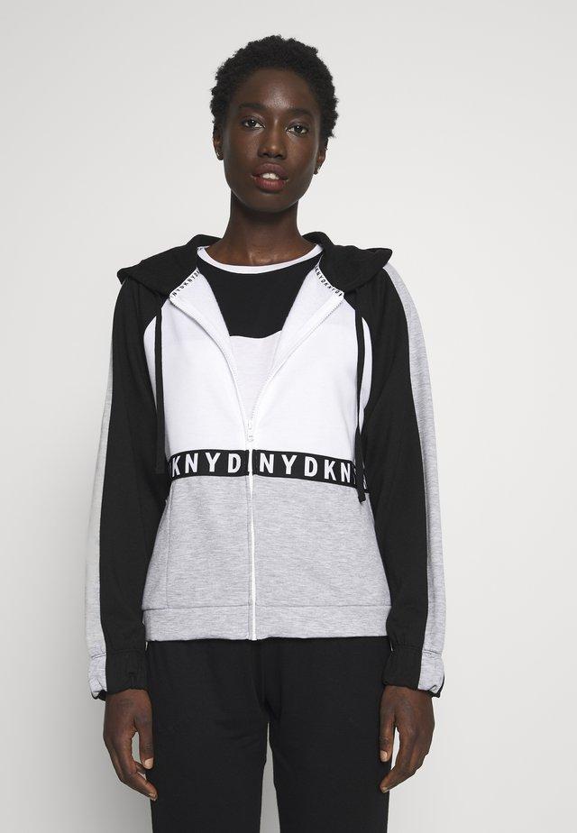 HOODIE - Zip-up hoodie - white