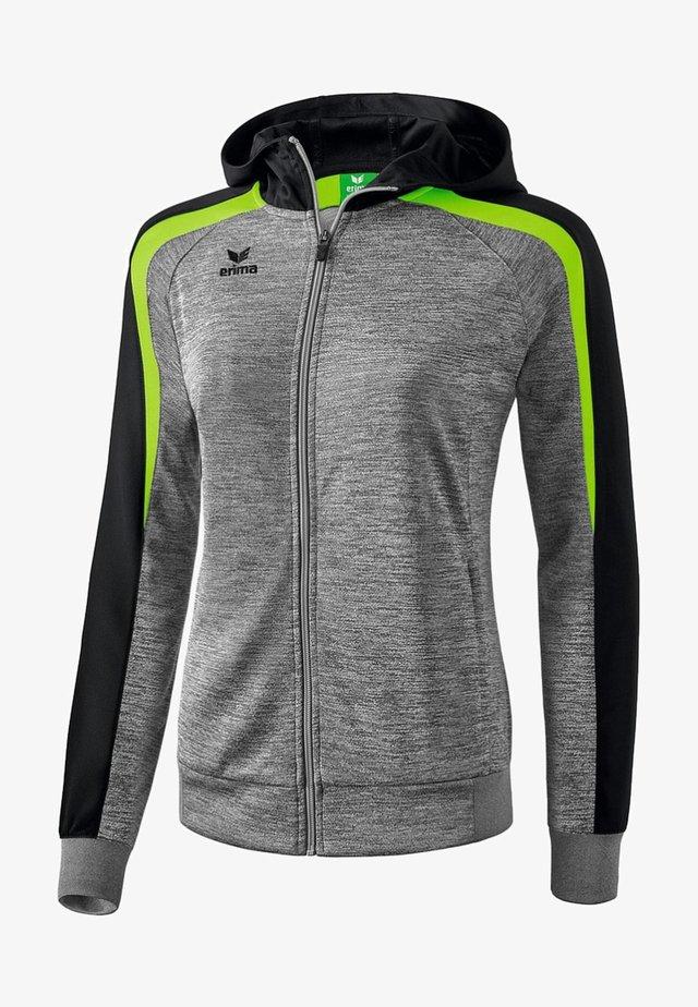 LIGA 2.0 TRAININGSKAPUZENJACKE DAMEN - Training jacket - grau / schwarz