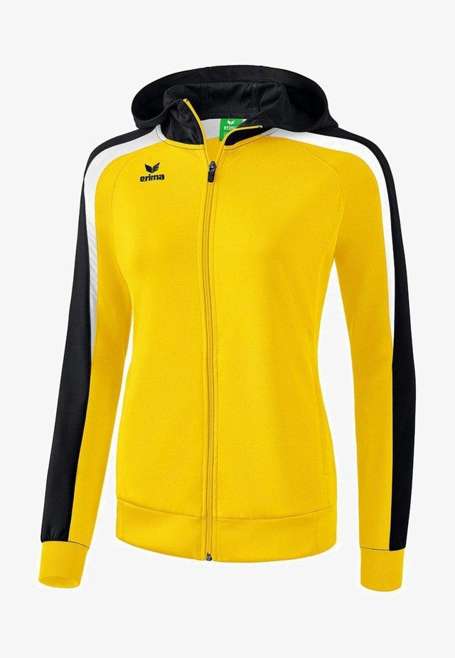 LIGA 2.0 TRAININGSKAPUZENJACKE DAMEN - Training jacket - gelb / schwarz