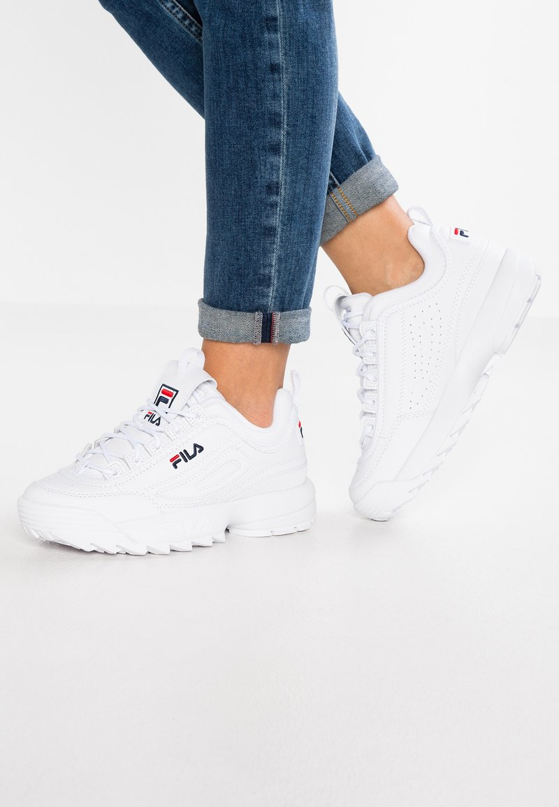 Fila - DISRUPTOR - Matalavartiset tennarit - white