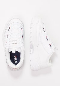 Fila - D FORMATION - Sneakersy niskie - white/navy/red - 3