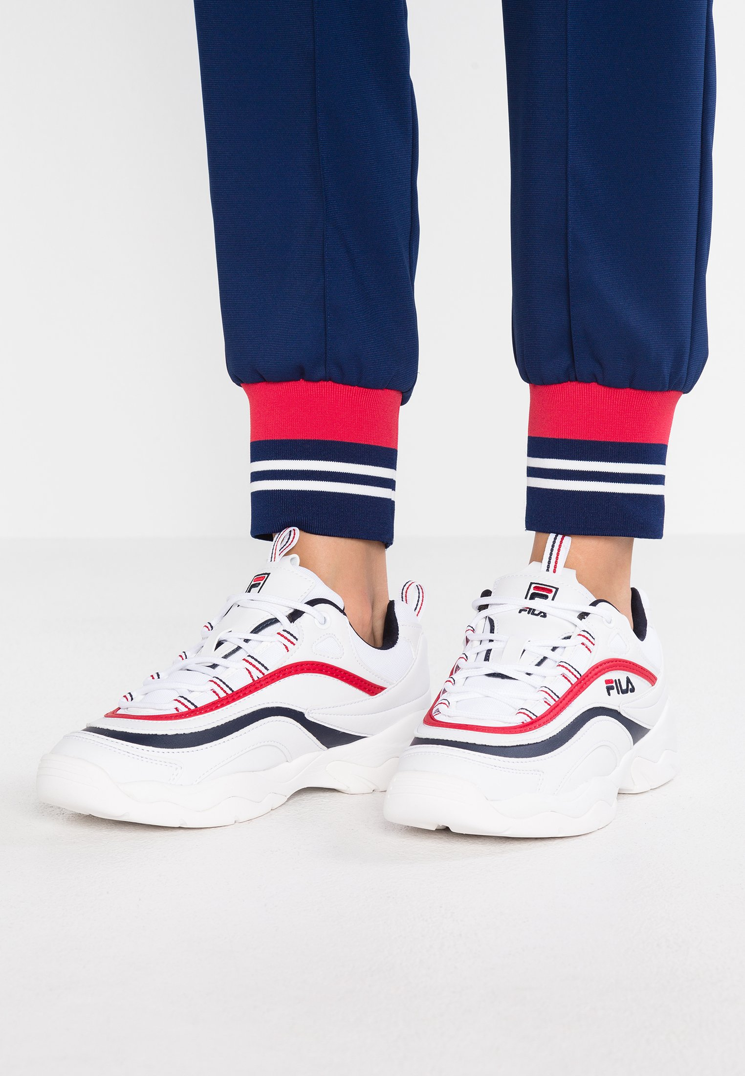 RAY Sneakers laag whitenavyred