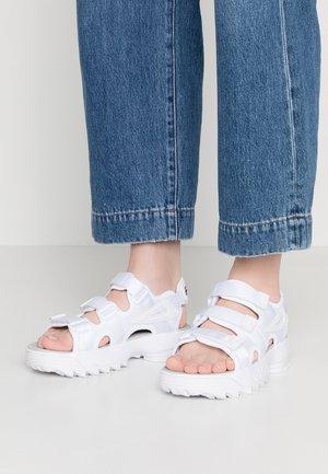 DISRUPTOR - Korkeakorkoiset sandaalit - white