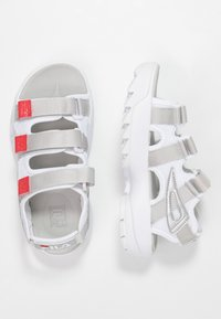 Fila - DISRUPTOR  - Sandales à plateforme - white/silver/red - 3