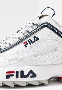Fila - DISRUPTOR LOGO - Baskets basses - white - 2