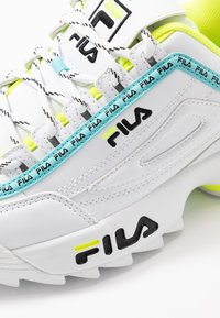 Fila - DISRUPTOR LOGO - Baskets basses - white/black/neon lime - 2
